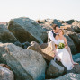 wedding couple on Noosa beach photography