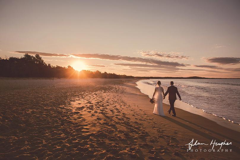 Noosa sunset wedding photography